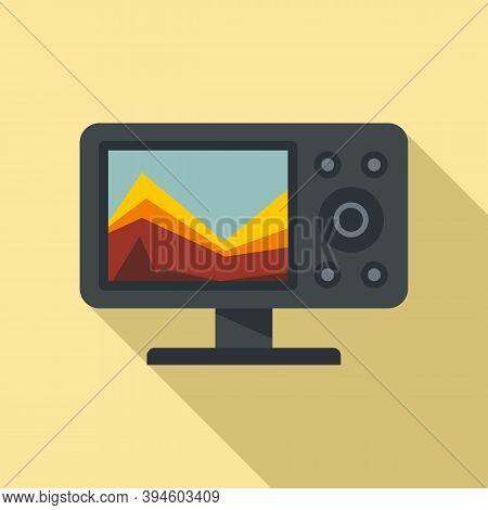 Sonar Echo Sounder Icon. Flat Illustration Of Sonar Echo Sounder Vector Icon For Web Design