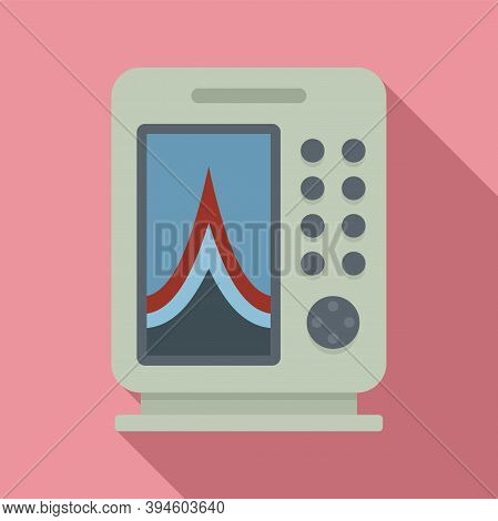 Instrument Echo Sounder Icon. Flat Illustration Of Instrument Echo Sounder Vector Icon For Web Desig