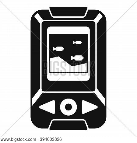 Echo Sounder Boat Icon. Simple Illustration Of Echo Sounder Boat Vector Icon For Web Design Isolated