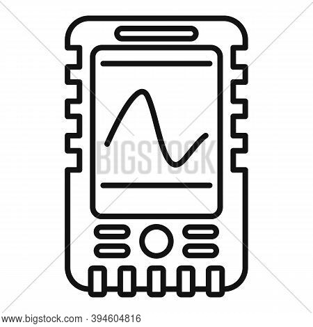 Echo Sounder Fathometer Icon. Outline Echo Sounder Fathometer Vector Icon For Web Design Isolated On