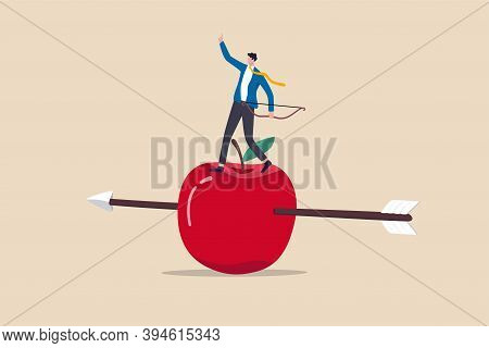 Business Goal Achievement, Risk Management Or Practicing And Skill To Overcome Risky And Manage To R