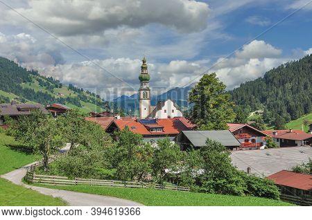 Idyllic Village Of Oberau In Wildschonau In Tirol,austria