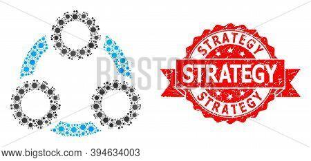 Vector Mosaic Gear Planetary Transmission Of Sars Virus, And Strategy Unclean Ribbon Seal Print. Vir
