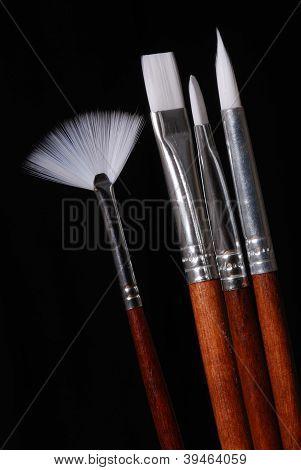 Set Of Artist's Paint Brushes