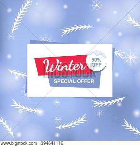 Winter Special Offer Sale Banner With Text