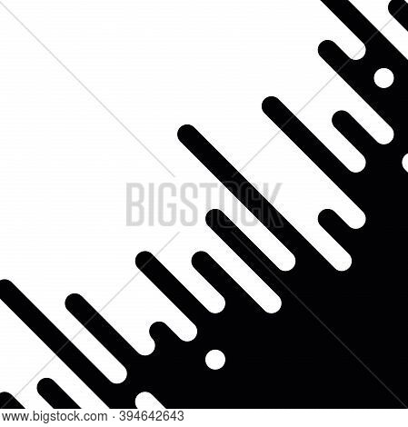 Seamless Vector Abstract Transition Of Two Colors. Rounded Lines Blended In. Looks Like Dipping Pain