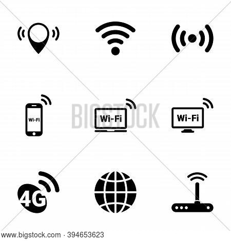 Set Of Simple Icons On A Theme Wi-fi , Vector, Design, Collection, Flat, Sign, Symbol,element, Objec