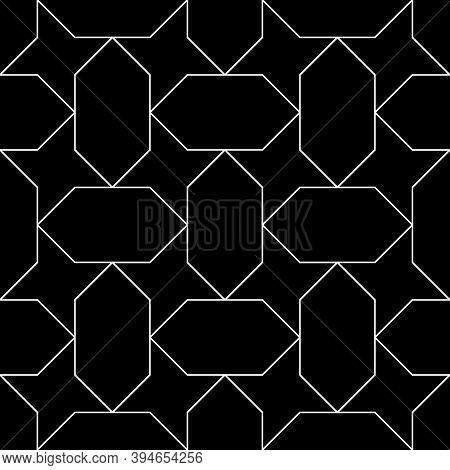 Seamless Egyptian Ornament. Arabic Mosaic Background. Tribal Wallpaper. Ethnical Folk Image. Ethnic