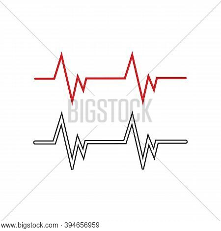 Heart Beat Pulse Line Hospital Vector