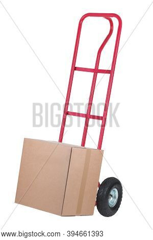 Trolley Sack Barrow With Parcel For Delivery