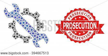 Vector Mosaic Repair Of Virus, And Prosecution Dirty Ribbon Seal Print. Virus Items Inside Repair Mo