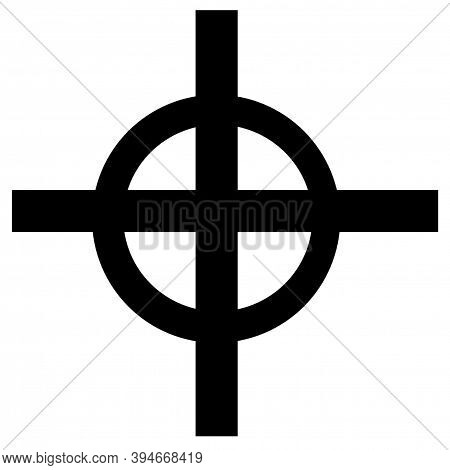 Celtic Cross Symbol With The White Background.