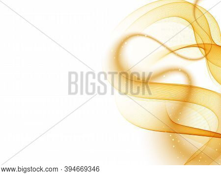 Orange Abstract Shape Wave Flow Background Abstract Vector Background