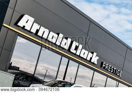 Inverness, Scotland - August 8, 2019: Arnold Clark Prestige Inverness Car Dealership In A Dynamic Pe