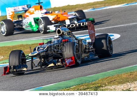 Team Lotus Renault And Force India 2012