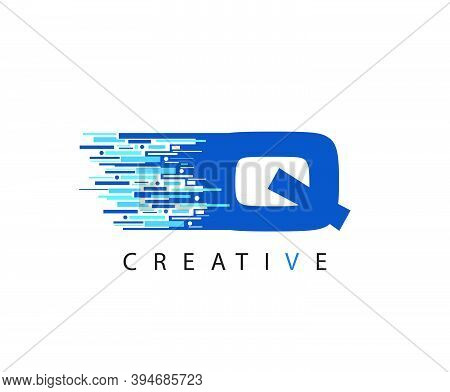 Letter Q Digital Network , Technology And Digital Abstract Line Q Network Circuit Vector Logo. .