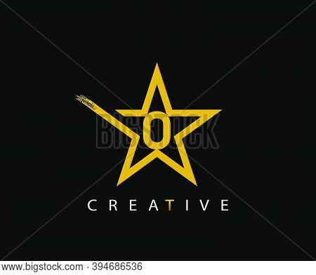Star O Letter Digital Network, Technology And Digital Abstract Line O Network Space Logo.