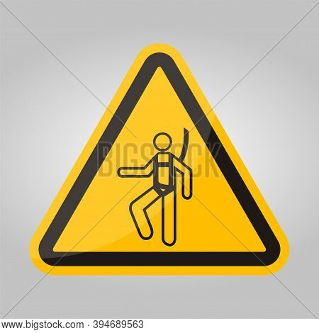 Symbol Wear Safety Harness Sign Isolate On White Background,vector Illustration Eps.10