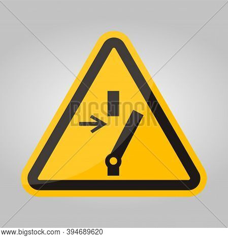 Disconnect Before Carrying Out Maintenance Or Repair Symbol Sign On Black Background Isolate On Whit