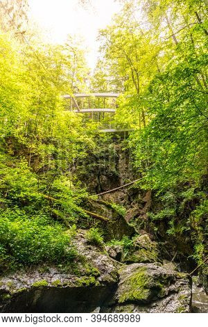 Nova Rasovna Sinkhole, Or Estavelle, Near Ostrov U Machochy, Moravian Karst, Czech Republic