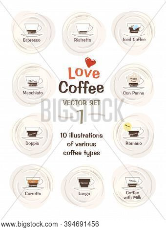10 Cute Illustrations Of The Various Coffee Types