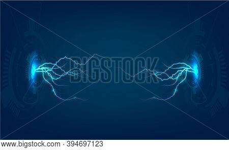 Lightning Technology Background. Abstract Lightning Technology Background, Vector Illustration,3d Li