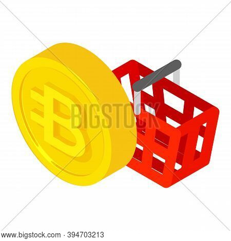 Bytecoin Cryptocurrency Icon. Isometric Illustration Of Bytecoin Cryptocurrency Vector Icon For Web