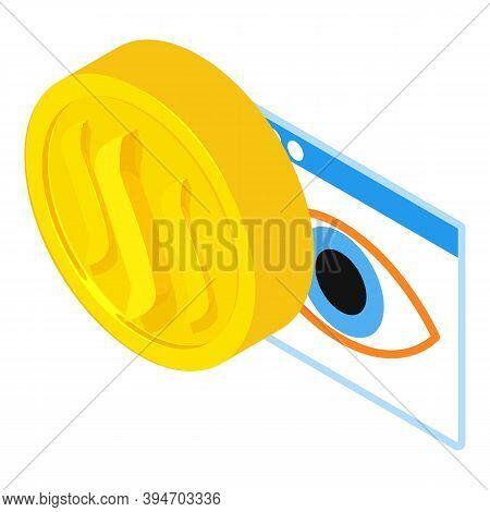 Steem Cryptocurrency Icon. Isometric Illustration Of Steem Cryptocurrency Vector Icon For Web