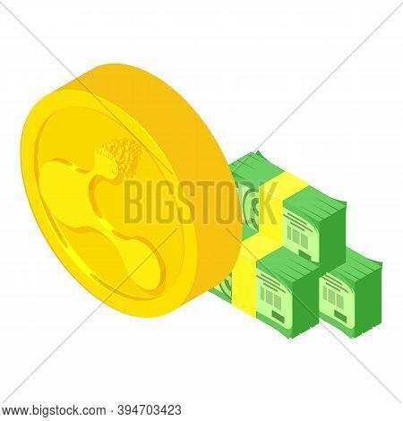 Bitconnect Cryptocurrency Icon. Isometric Illustration Of Bitconnect Cryptocurrency Vector Icon For