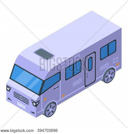 Travel Motorhome Icon. Isometric Of Travel Motorhome Vector Icon For Web Design Isolated On White Ba