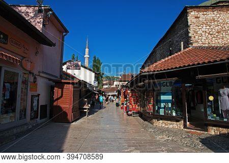 Sarajevo, Bosnia And Herzegovina - 27 Apr 2018: The Market In Sarajevo City, Bosnia And Herzegovina