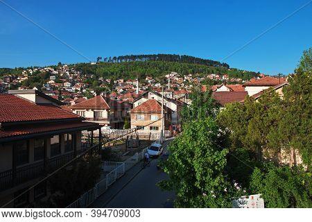Sarajevo, Bosnia And Herzegovina - 27 Apr 2018: The View On Sarajevo City, Bosnia And Herzegovina