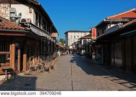 Sarajevo, Bosnia And Herzegovina - 28 Apr 2018: The Market In Sarajevo City, Bosnia And Herzegovina
