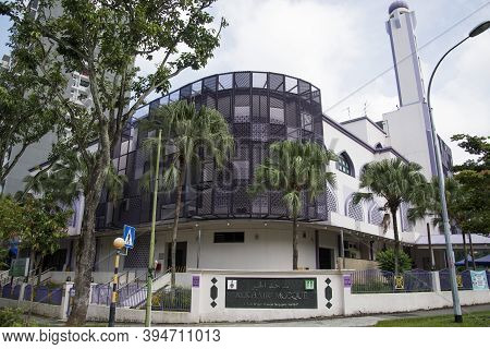 Singapore- 14 Nov, 2020: View Of The Al-khair Mosque Is A Mosque In Choa Chu Kang, Singapore. It Was