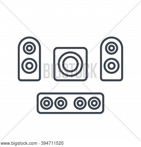 Subwoofer, Speakers, Sounbar Icons, Eps 10 File, Easy To Edit