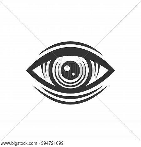 Engraved Vintage Eye. Illuminati, Occult Symbol. Eye Of Providence. Vintage Tattoo Eye. Vector Illus