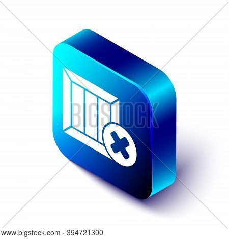 Isometric Wooden Box And Delete Icon Isolated On White Background. Box, Package, Parcel Sign. Delive