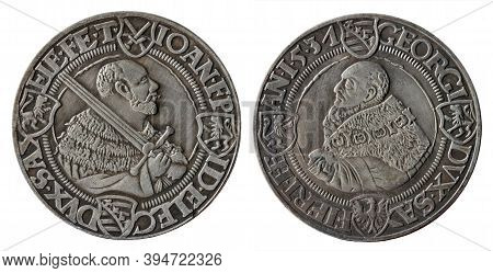 Copy Of The German Silver Thaler Coin Minted In 1531 By  John Frederick Elector Of Saxony Called The
