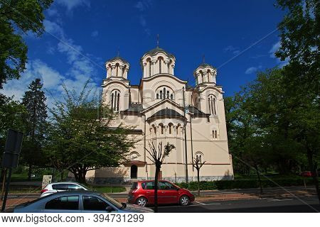 Ljubljana, Slovenia - 30 Apr 2018: Orthodox Church In Ljubljana, Slovenia