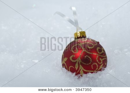 Red & Gold Christmas Ornament