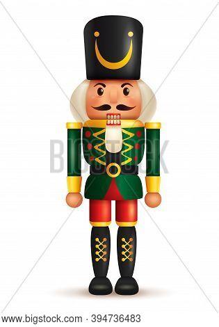 Christmas Nutcracker Doll. Antique Traditional Figurine Doll.