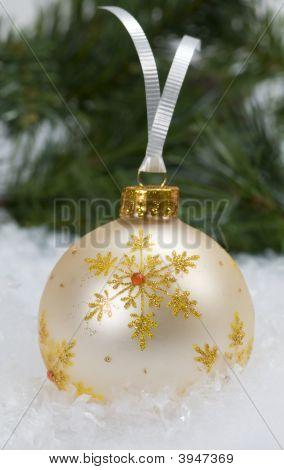 White & Gold Christmas Ornament