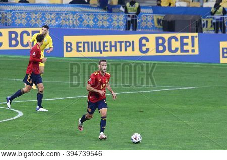 Kyiv, Ukraine - October 13, 2020: Sergio Canales Of Spain In Action During The Uefa Nations League G