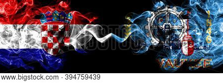 Croatia, Croatian Vs United States Of America, America, Us, Usa, American, Milwaukee, Wisconsin Smok
