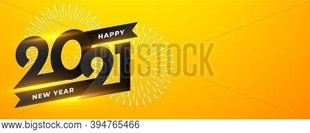 Happy New Year 2021 Celebration Firework Background Vector Design Illustration