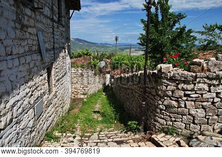 The Vintage Fortress Of Berat City In Albania