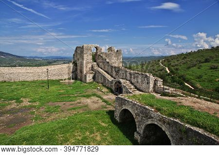 Berat, Albania - 09 May 2018: The Vintage Fortress Of Berat In Albania