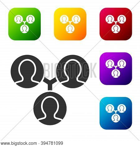 Black Project Team Base Icon Isolated On White Background. Business Analysis And Planning, Consultin