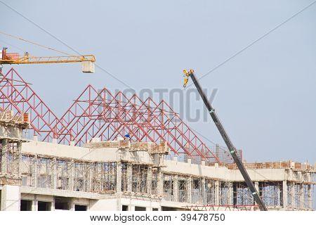 Construction crane at the construction site