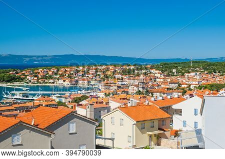 Town Of Cres On The Island Of Cres In Croatia, Adriatic Seascape